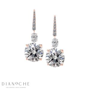 Drop earrings diamond rose gold