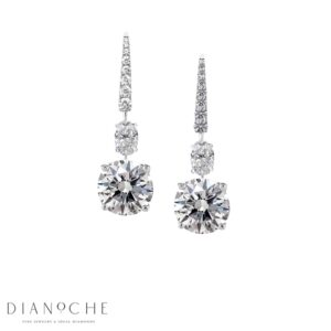 Drop earrings diamond white gold