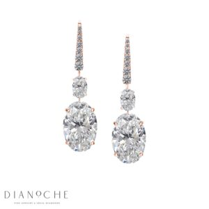 Dangling earrings diamond rose gold