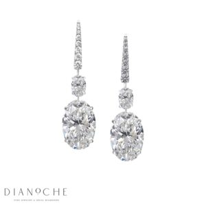Dangling earrings diamond white gold