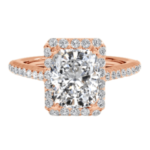Cushion Cut Diamond Ring rose gold