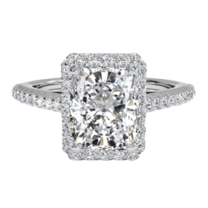 Cushion Cut Diamond Ring white gold