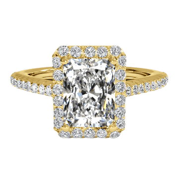 2 carat radiant cut ring yellow gold