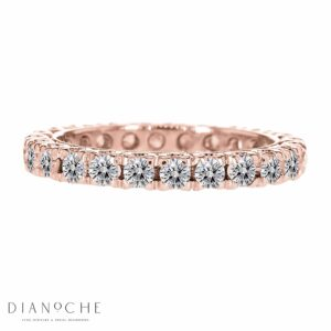 Diamond eternity band singapore rose gold