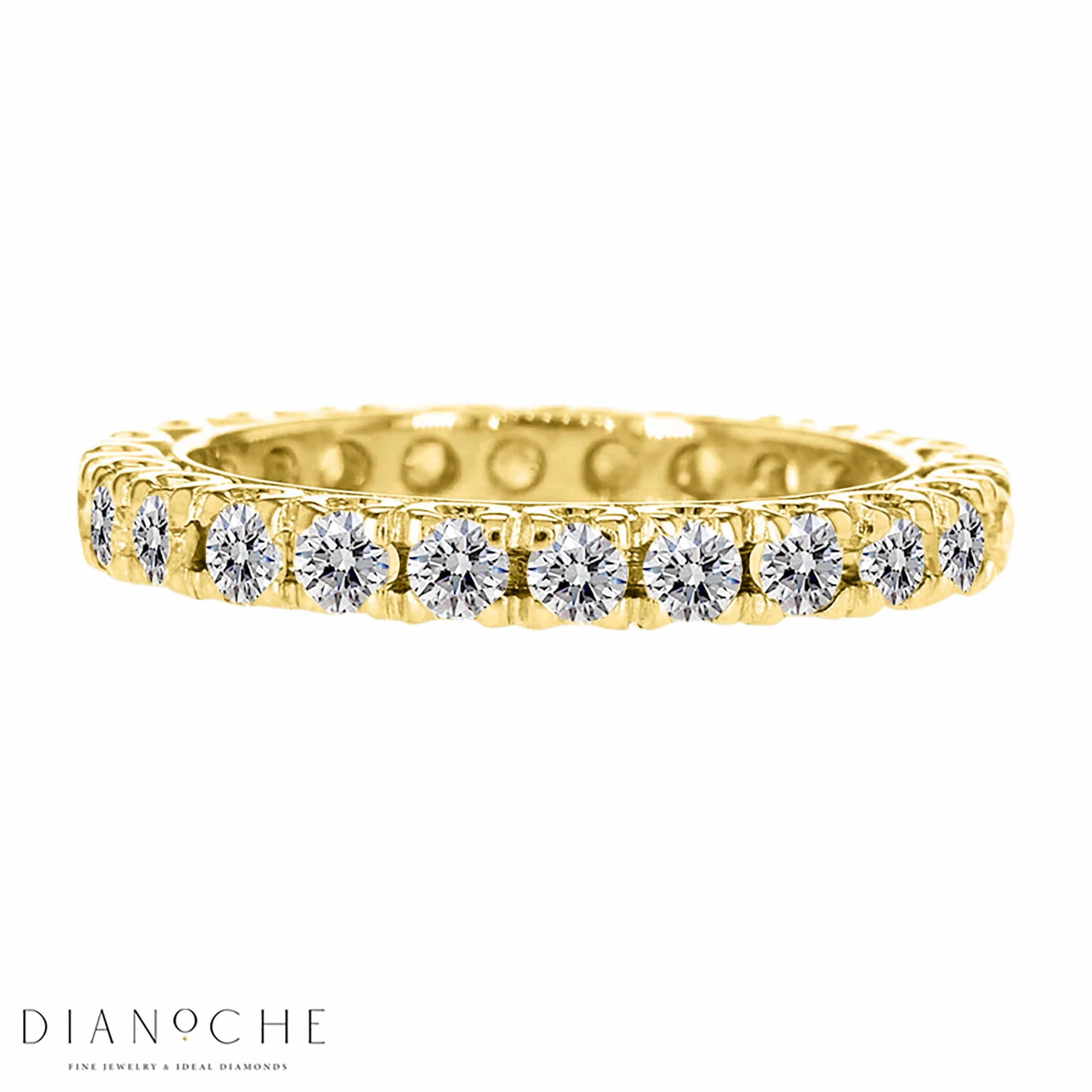 Diamond eternity band singapore yellow gold