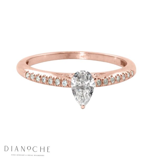 Pear Engagement Ring Rose Gold