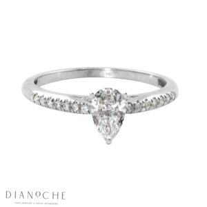 Pear Engagement Ring White Gold