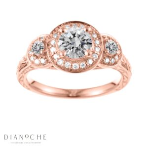 Antique diamond ring rose gold