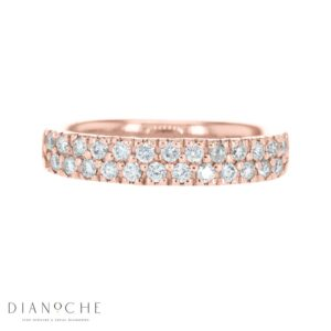 Double Row Eternity Ring rose gold