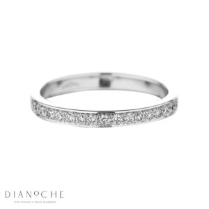 Half eternity diamond ring white gold