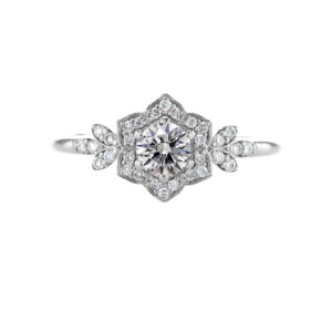 Vintage Style Diamond Ring White Gold