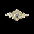 Vintage Style Diamond Ring Yellow Gold