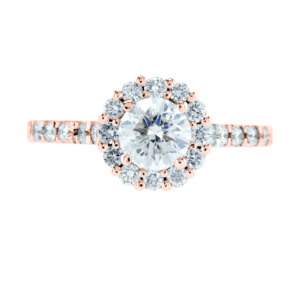 Big Flower Style Diamond Ring Rose Gold