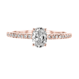 Oval Diamond Ring Rose Gold