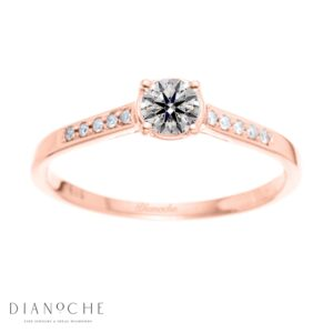 Bezel diamond ring rose gold