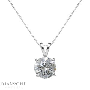 1-carat diamond pendant white gold