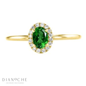 oval cut emerald ring yellow gold