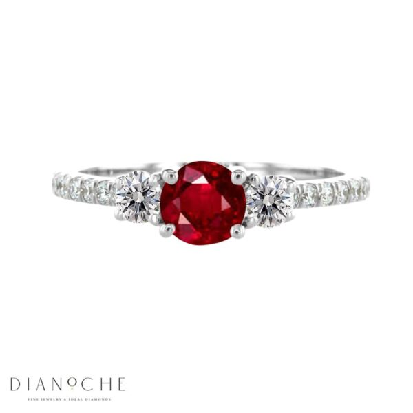 garnet ring with diamond accent white goldq