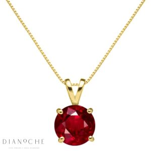Drop shaped diamond pendant yellow gold
