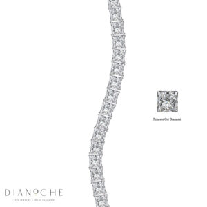 Princess Diamond Tennis Bracelet white gold
