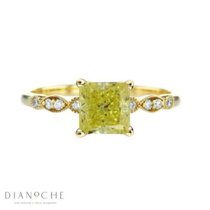 fancy yellow diamond ring yellow gold