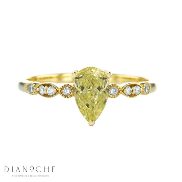 vintage yellow diamond ring yellow gold