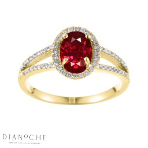oval shaped garnet ring yellow gold