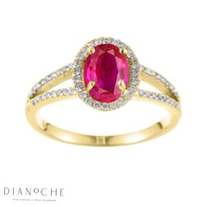 oval shaped ruby ring yellow gold