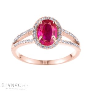 oval shaped ruby ring rose gold