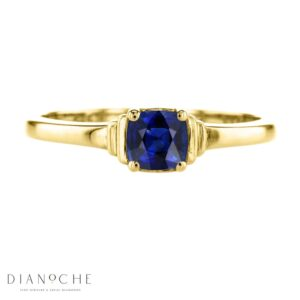 sapphire solitaire ring yellow gold