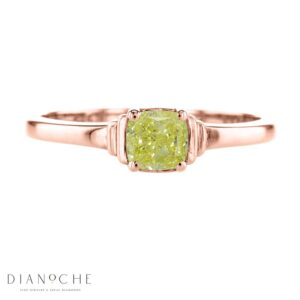 yellow diamond solitaire ring rose gold