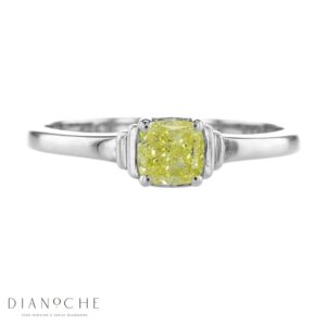 yellow diamond solitaire ring white gold